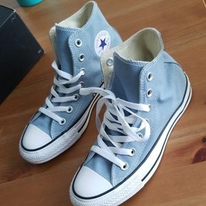 Washed Denim Converse size 6W/4M